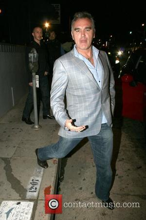 Morrissey  outside STK restaurant West Hollywood, California, USA - 14.04.08