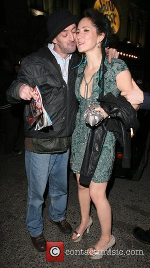 K.T. Tunstall leaving Movida nightclub. On her way out, she gave a Big Issue seller and a tramp some money...