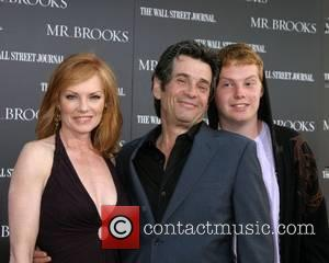 Marg Helgenberger and Alan Rosenberg, and son