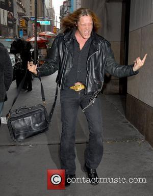 Sebastian Bach leaving MTV TRL studios in Times Square New York City, USA - 29.04.08
