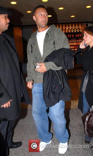 American Major League Baseball player Derek Jeter outside MTV TRL Studios in Times Square New York City, USA - 15.01.08