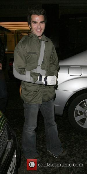Kelly Jones wearing a sling from last weeks fight cuting his arm badly,  'Music Control's My Playlist' party at...