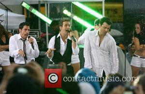 Danny Wood, Joey McIntyre and Jordan Knight New Kids on the Block reunite to perform live on 'The Today Show...
