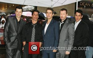 Jordan Knight, Danny Wood, Joey McIntyre, Donnie Wahlberg and Jonathan Knight band members of 'New Kids on the Block' reunite...