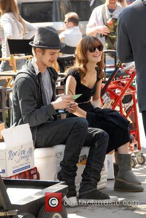 Hayden Christensen and Rachel Bilson on the film set of 'New York, I Love You' New York City, USA -...