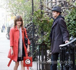 Hayden Christensen and Rachel Bilson filming their new movie 'New York, I Love You' in the West Village New York...