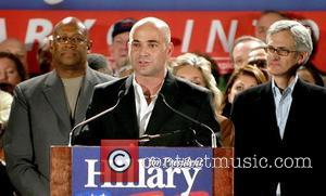 Andre Agassi, Bill Clinton and Hillary Clinton
