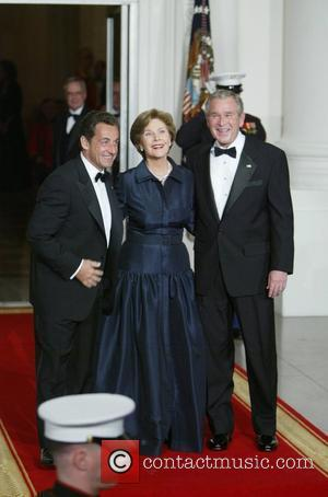 French President Nicolas Sarkozy, First Lady Laura Bush and President George Bush The White House is welcoming French President Nicolas...