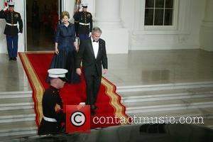 First Lady Laura Bush and President George Bush The White House is welcoming French President Nicolas Sarkozy for his first...