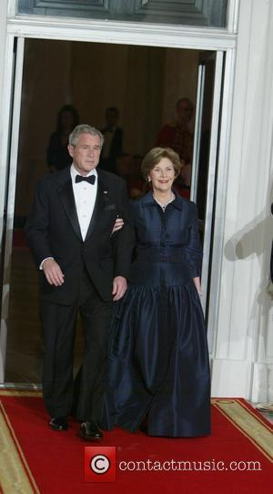 George Bush, Laura Bush and White House