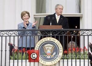 First Lady Laura Bush and President George W. Bush  The annual White House Easter Egg Roll on the South...