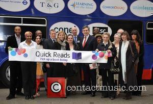 Colin Jackson, John Denham, Adele Parks and Prime Minister Gordon Brown Quick Reads 2008 launch event on 'World Book Day'...