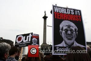 Stop The War Protest In Trafalgar Square and Trafalgar Square