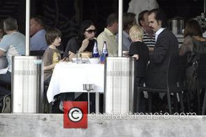 Nick Cave goes for lunch with his wife and children  Sydney, Australia. 22.03.08.
