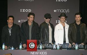 Danny Wood, Jonathan Knight, Donnie Wahlberg, Joey McIntyre and Jordan Knight New Kids on the Block promote their new single...