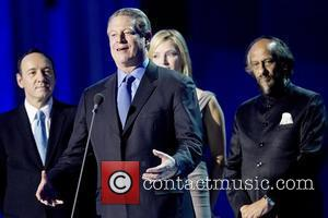Kevin Spacey, Al Gore and Uma Thurman