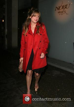 Rebecca Loos and A Female Companion Catch A Cab Home After Dining At Nobu Berkeley Restaurant.