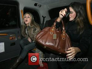 Nikki Grahame leaves Nobu Berkeley restaurant with a female companion. Nikki got very upset that a minicab driver would not...