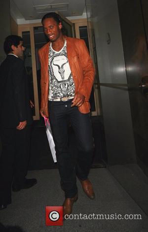 Didier Drogba leaving Nobu Berkeley Street restaurant London, England - 12.04.08