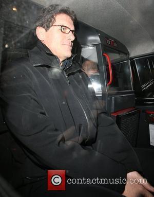 England football manager Fabio Capello leaving Nobu Berkeley restaurant at 11pm. London, England - 13.03.08