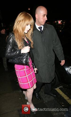 Nicola Roberts, from pop group Girls Aloud, leaving Nobu Berkeley restaurant at midnight. London, England - 20.03.08