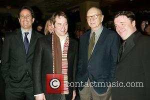 Jerry Seinfeld, Matthew Broderick, Neil Simon and Seinfeld