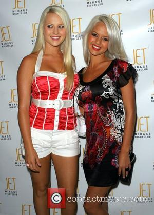 Molly Shea and Holly Huddleston The Olly Girls from E! Television's ' Sunset Tan ' host an evening at JET...