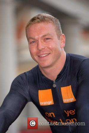 Chris Hoy at a Photocall for Orange