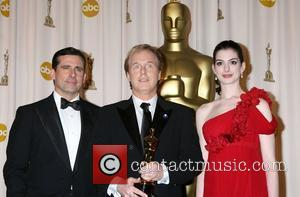 Steve Carrell, Brad Bird and Anne Hathaway