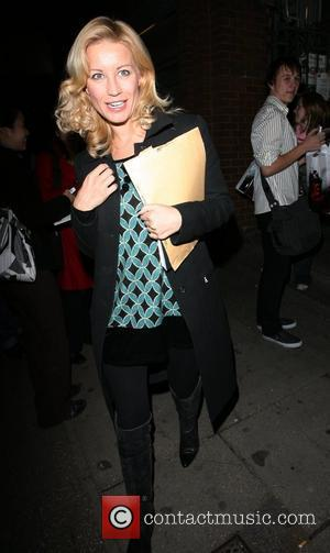 Denise Van Outen and Leaving The Duke Of York Theatre After Appearing In Rent