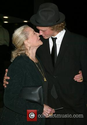 Lauren Bacall and Her Grandson Jasper Robards
