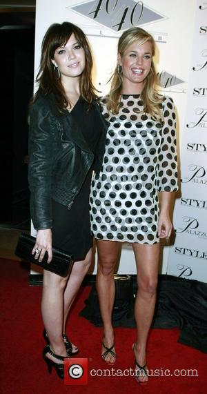 Mandy Moore, Rebecca Romjin Arrive At The 40/40 Club After Attending The Palazzo Grand Opening Event At Barneys New York, The Shoppes and Held At The Palazzo.