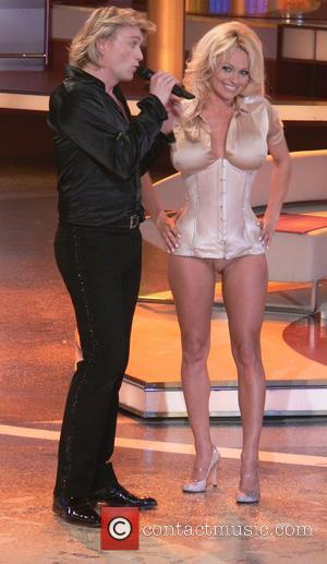 Hans Klok, Pamela Anderson ZDF TV show Willkommen bei Carmen Nebel at the Velodrom Berlin, Germany - 15.03.08,