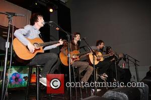 Brendon Urie, Ryan Ross, Jon Walker and Spencer Smith Panic at the Disco performs at Studio 540 at the American...