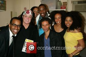 Daniel Breaker, Rosie O'Donnell, de'Adre Aziza, Colman Domingo, Chad Goodridge, Eisa Davis and Rebecca Naomi Jones Rosie O'Donnell backstage with...