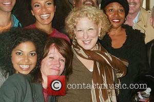 Bette Midler, her husband Martin Von Haselburg, Jenifer Lewis, Scott Wittman & Marc Shaiman visit the cast of the new...