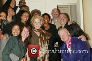 Bette Midler, Her Husband Martin Von Haselburg, Jenifer Lewis, Scott Wittman and Marc Shaiman Visit The Cast Of The New Broadway Musical 'passing Strange' At The Belasco Theatre