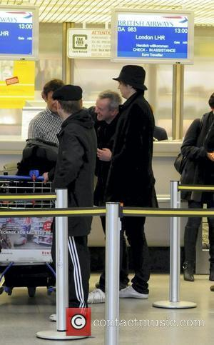Pete Doherty and members of his band Babyshambles