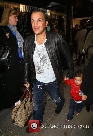 Peter Andre and His Son Junior