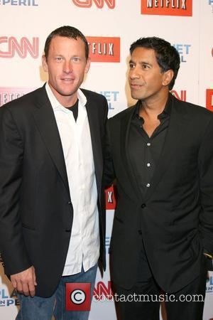 Lance Armstrong and Dr. Sanjay Gupta