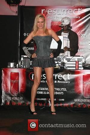Bridget Marquardt modeling in the fashion show 2nd Annual All Star Night at the Playboy Mansion, hosted by Celebrity Locker...