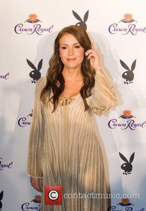 Alyssa Milano Crown Royal Playboy Lounge in celebration of the MLB (Major League Baseball) All-Star game held at the Galleria...