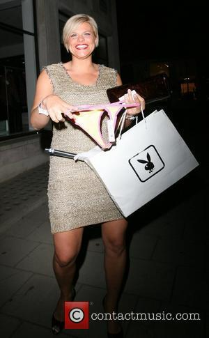 Jade Goody shows off a thong she got in her