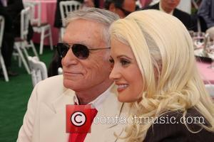 Hugh Hefner and Holly Madison Playboy announces Jayde Nicole as Playboy's 2008 Playmate of the Year at a luncheon at...