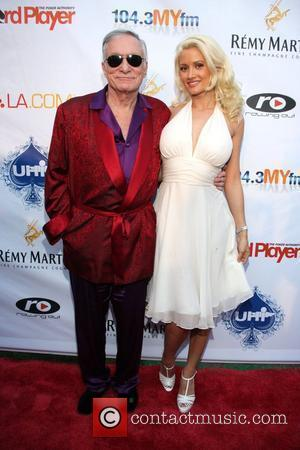 Hugh Hefner and Holly Madison 3rd Annual Celebrity Poker Tournament and Casino Night at the Playboy Mansion Los Angeles, California...