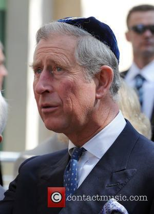 Prince Charles, Prince Of Wales, Wearing A Jewish Yarmulka and Opens The Krakow Jewish Community Centre
