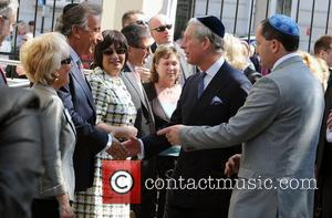 Prince Charles, Prince Of Wales, Wearing A Jewish Yarmulka and Meets Wellwishers Outside The Krakow Jewish Community Centre