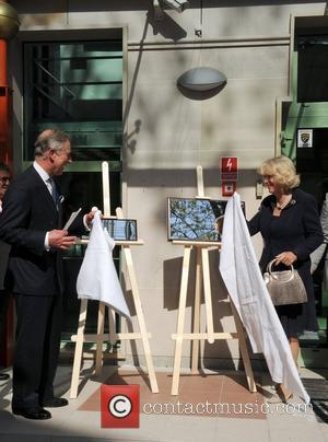 Prince Charles, Prince of Wales and Camilla, Duchess of Cornwall unveil plaques as they open the Krakow Jewish Community Centre...