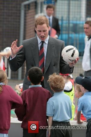 Prince William meets well-wishers as he visits the FA skills programme at St. Aidan's Primary School Blackburn, England - 09.05.08