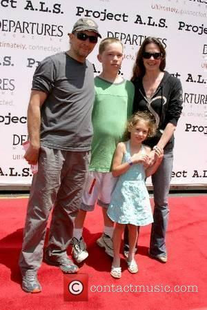 Richard Schiff, Shelia Kelley with son Gus and daughter Ruby Christine Project A.L.S Los Angeles Benefit 2007 held at Paramount...